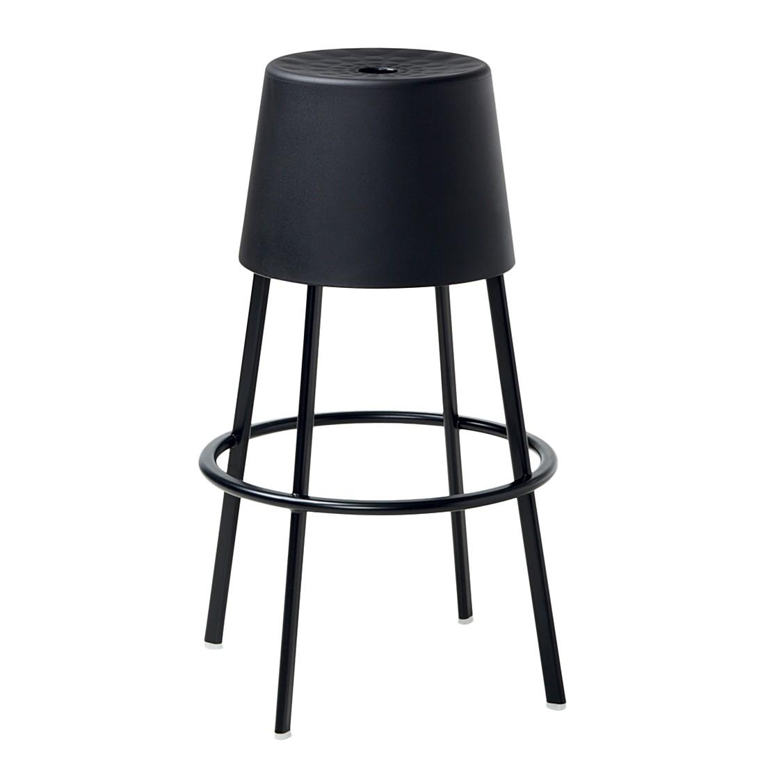hocker marrakech kunststoff metall schwarz schwarz sitzh he 77 cm casamania g nstig kaufen. Black Bedroom Furniture Sets. Home Design Ideas
