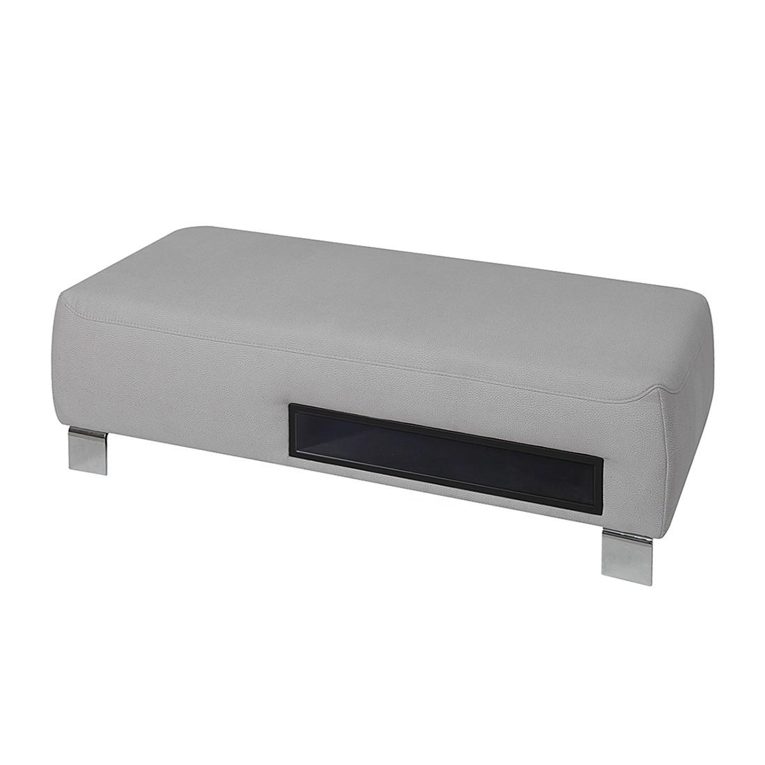Hocker Radena – Microfaser Silber, trendline by ADA günstig online kaufen