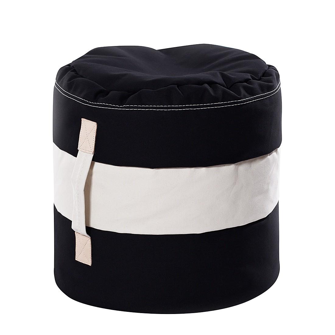 Hocker Tub I – Schwarz/Weiß, Ikoonz günstig bestellen