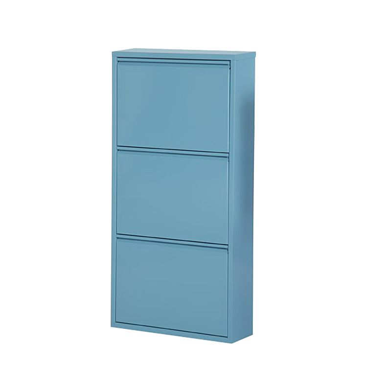 schuhschrank cabinet blau 3 klappen h he 100 cm. Black Bedroom Furniture Sets. Home Design Ideas
