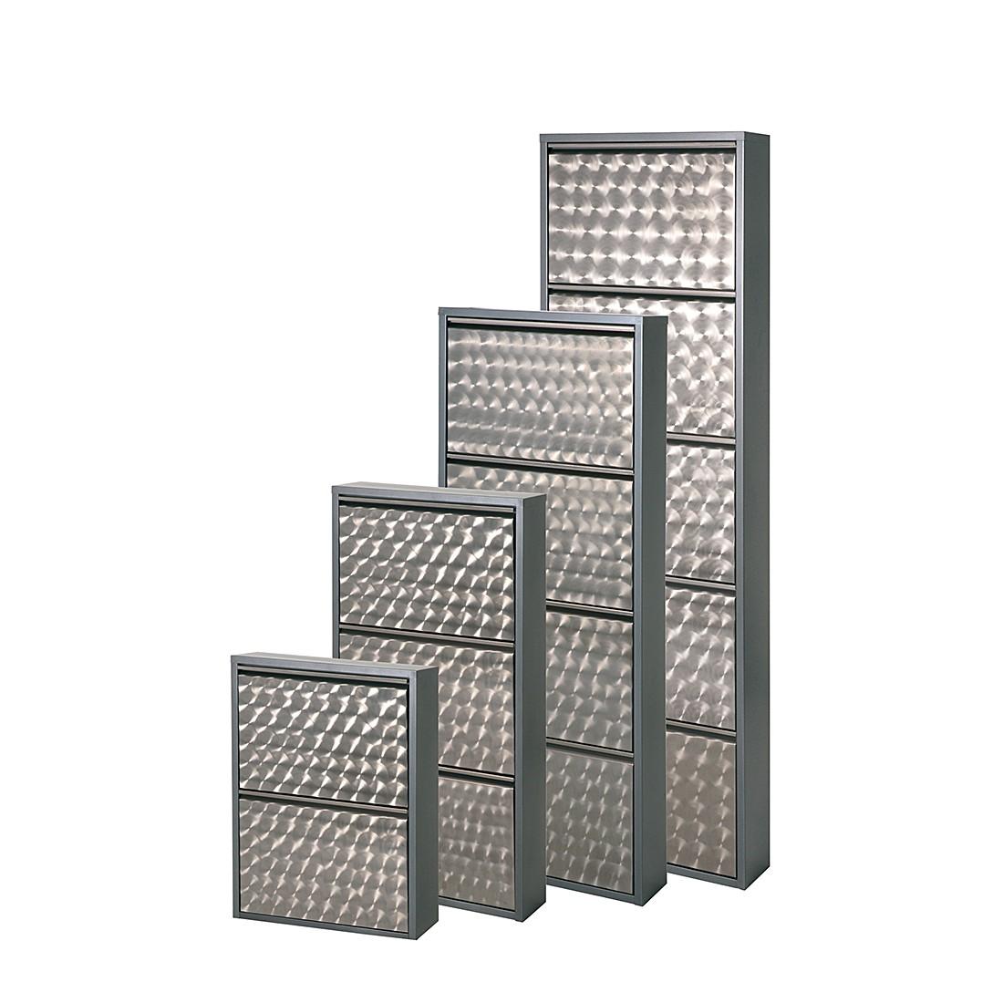 db6fb1e299a922 Schuhschrank Cabinet - Silber Geflext - 2 Klappen - Höhe 70 cm ...