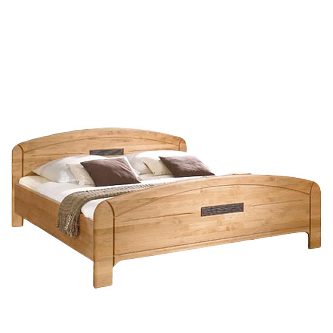 Holzbett Gloria – Erle teilmassiv lackiert/Braun – Liegefläche: Ü-Länge 200 x 210 cm, Franco Möbel kaufen