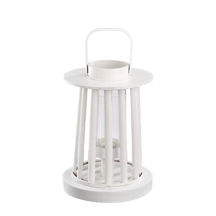 Holzlaterne (Ø22,5×31,5cm) – weiß, H.g. günstig online kaufen