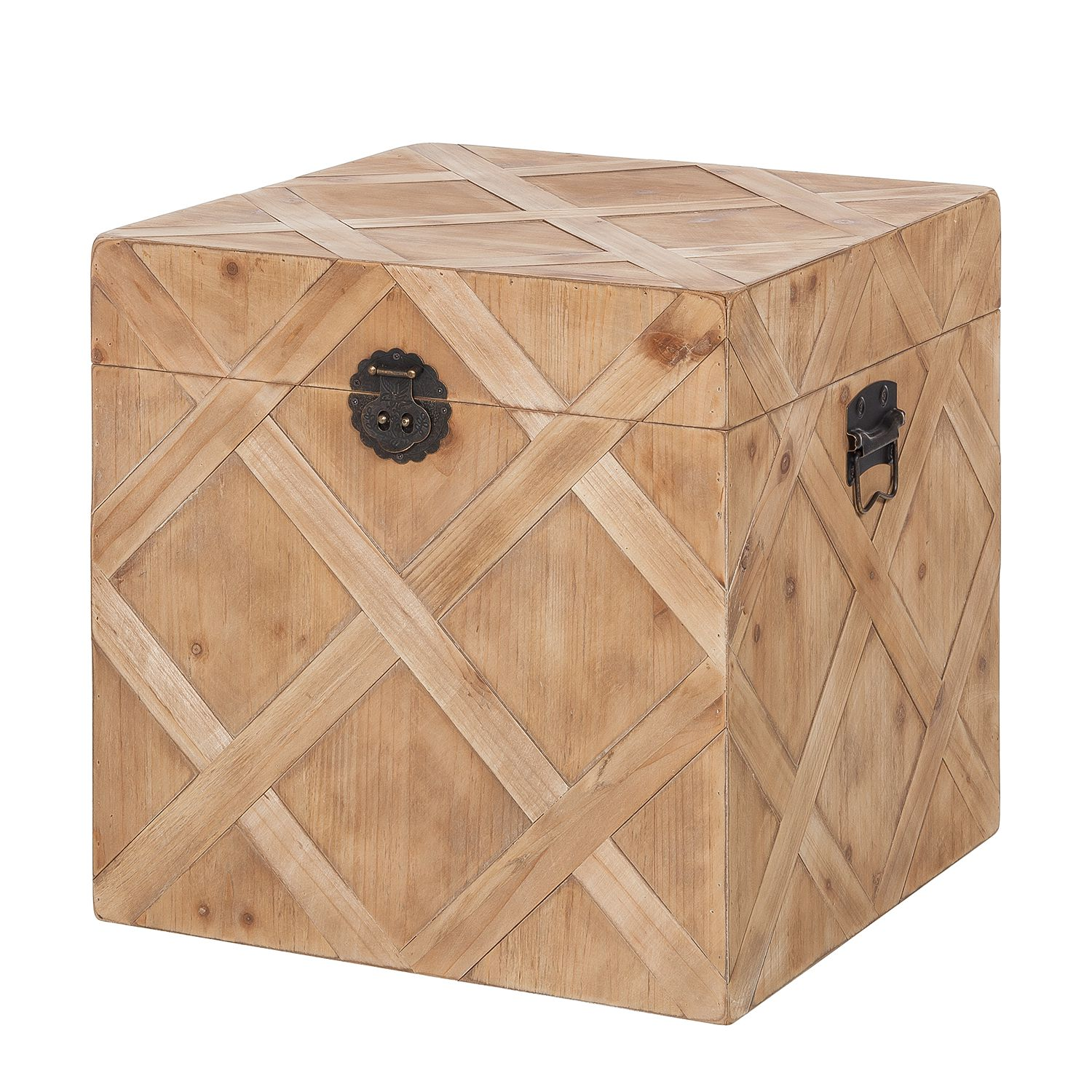 Holztruhe Souillac - Eiche massiv - 48 cm, Jack and Alice