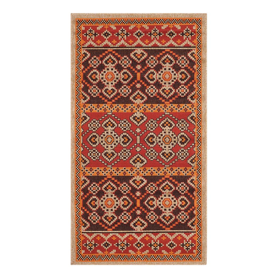 In-/Outdoorteppich Akot – Rot/Schoko – Maße: 78 x 152 cm, Safavieh günstig kaufen