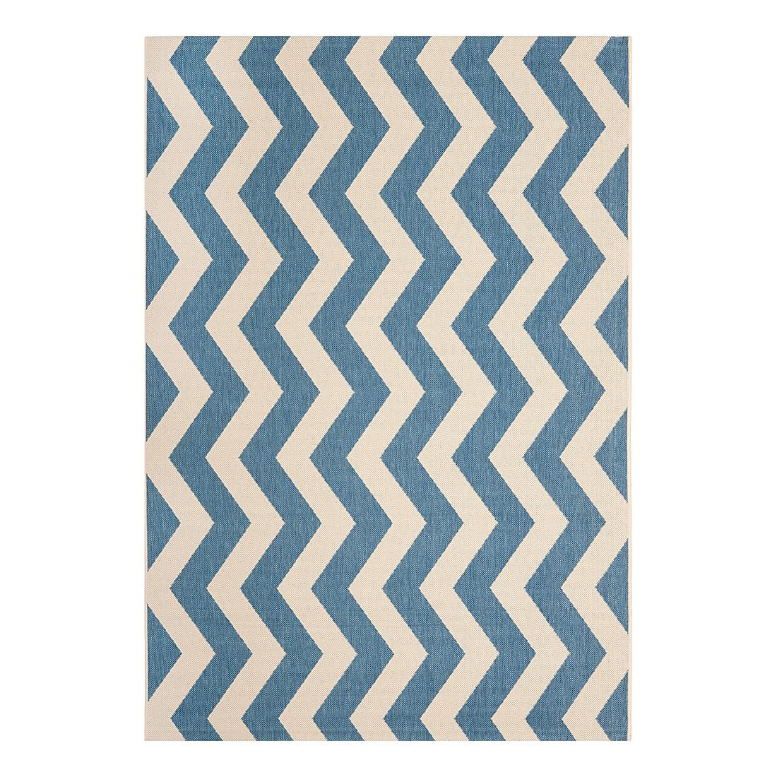 In-/Outdoorteppich Amalfi – Blau/Beige – Maße: 121 x 170 cm, Safavieh günstig bestellen