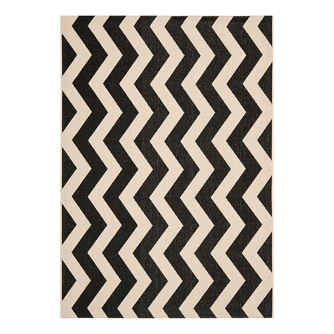 In-/Outdoorteppich Amalfi – Schwarz/Beige – Maße: 160 x 231 cm, Safavieh online kaufen