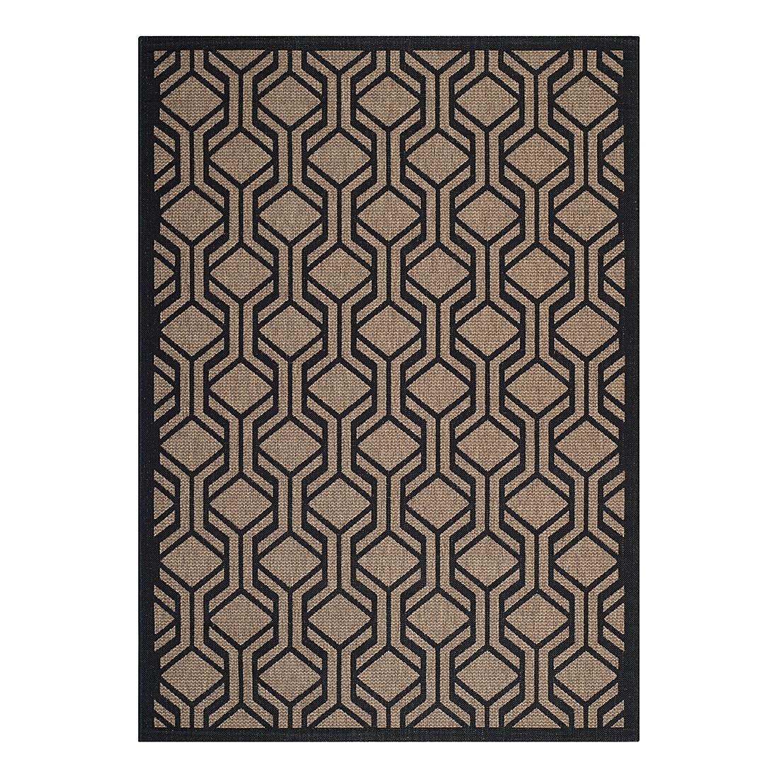 In-/Outdoorteppich Catalonia – Braun/Schwarz – Maße: 121 x 170 cm, Safavieh online bestellen