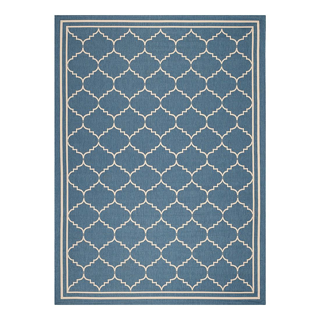 In-/Outdoorteppich Chloe – Blau/Beige – Maße: 60 x 109 cm, Safavieh online bestellen