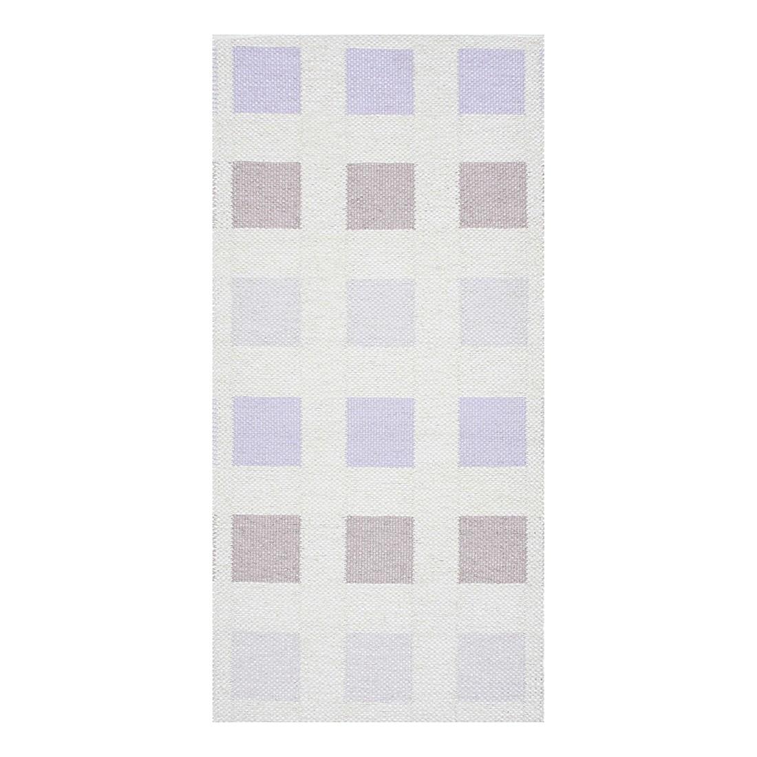 In-/Outdoorteppich Cubo VIII – Kunstfaser Violett/Beige/Cremweiß, Swedy günstig online kaufen