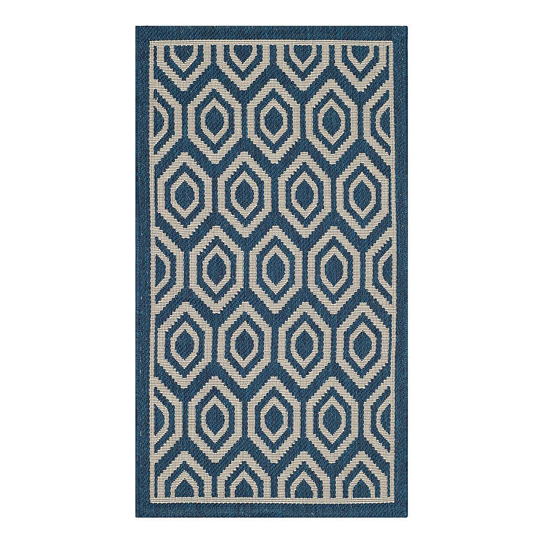 In-/Outdoorteppich Felix – Marine/Beige – Maße: 60 x 109 cm, Safavieh online bestellen