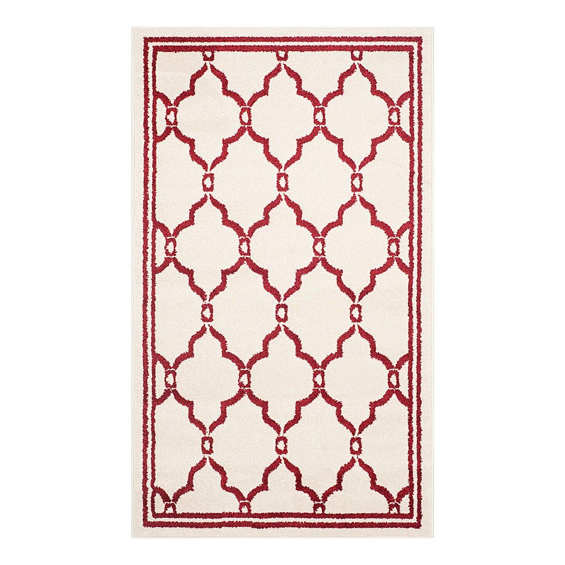 In-/Outdoorteppich La Pelosa – Creme/Rot – Maße: 76 x 121 cm, Safavieh günstig online kaufen