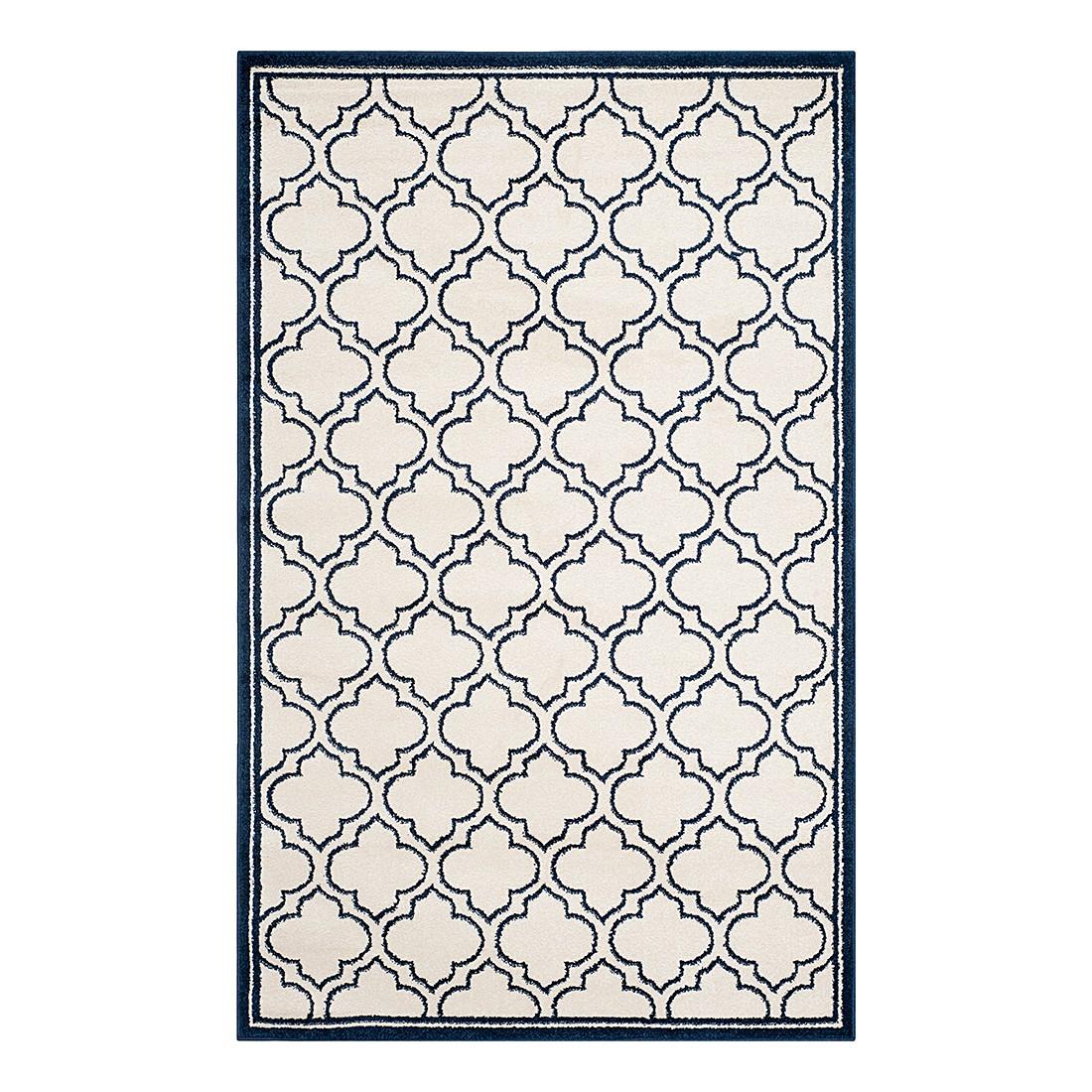 In-/Outdoorteppich La Salis – Creme/Marine – Maße: 91 x 152 cm, Safavieh online bestellen