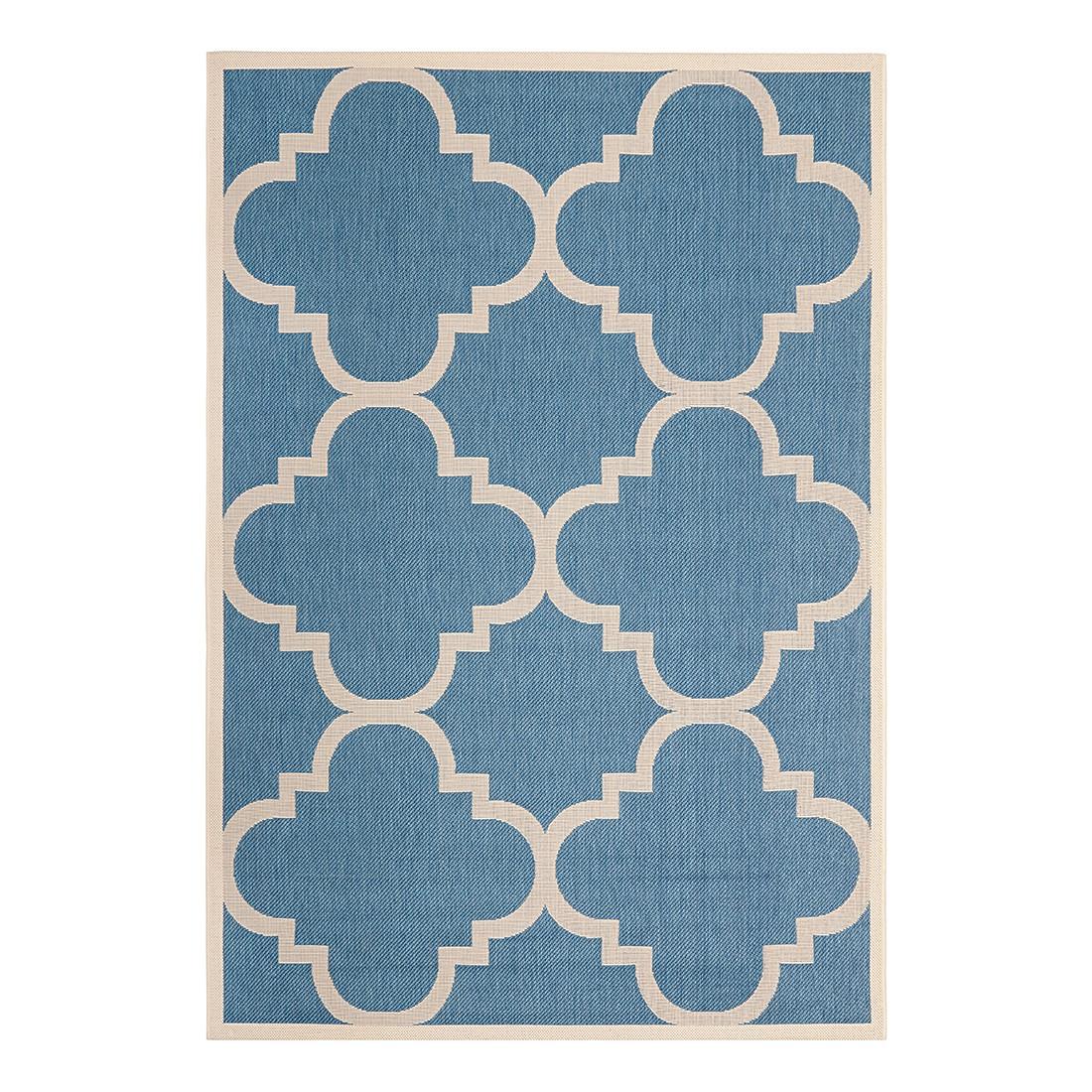 In-/Outdoorteppich Mali – Blau/Beige – Maße: 160 x 231 cm, Safavieh bestellen