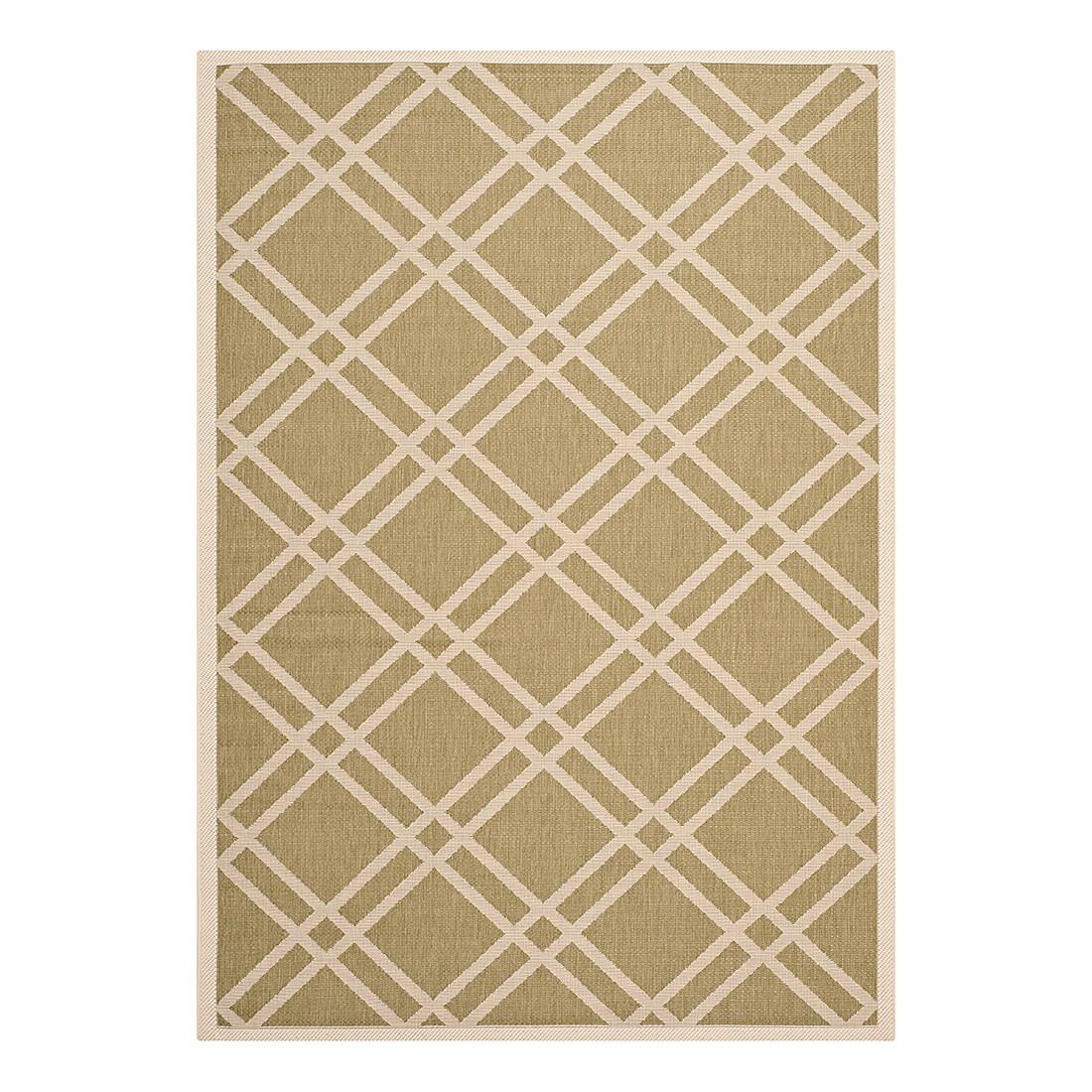 In-/Outdoorteppich Marbella – Grün/Beige – Maße: Maße: 60 x 109 cm, Safavieh günstig online kaufen