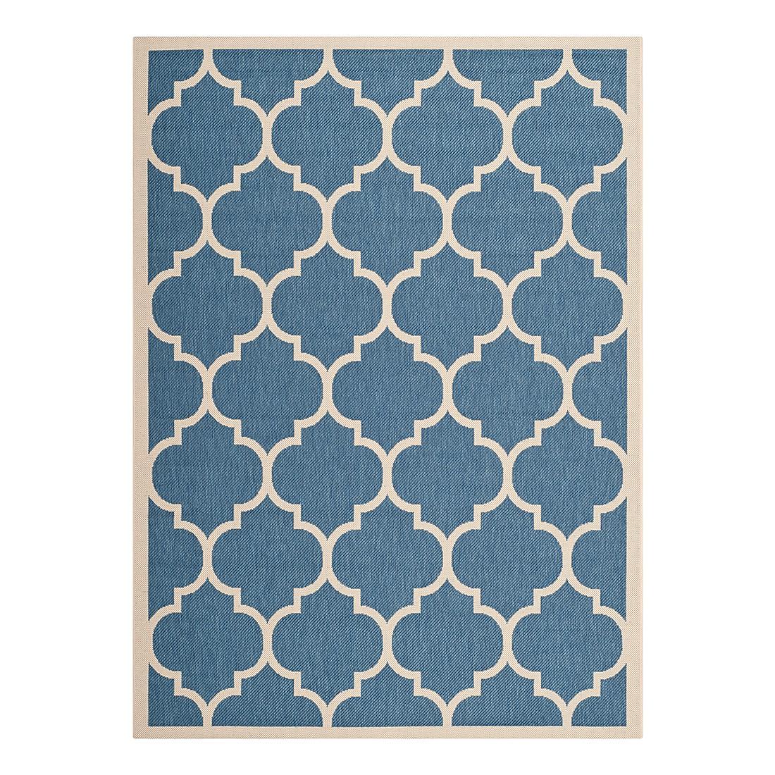 In-/Outdoorteppich Monaco – Blau/Beige – Maße: 60 x 109 cm, Safavieh online bestellen