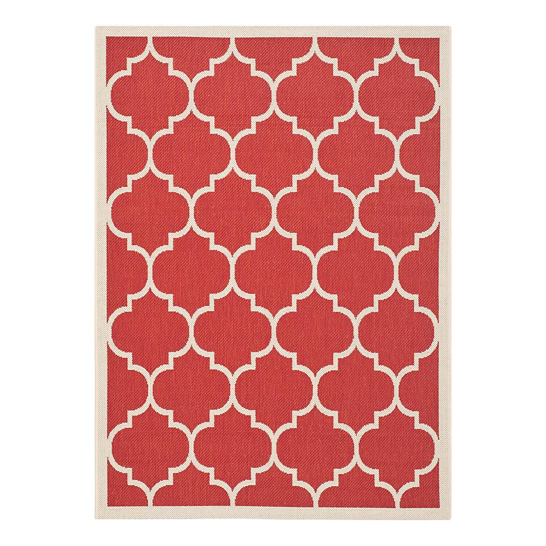 In-/Outdoorteppich Monaco – Rot/Beige – Maße: 60 x 109 cm, Safavieh günstig