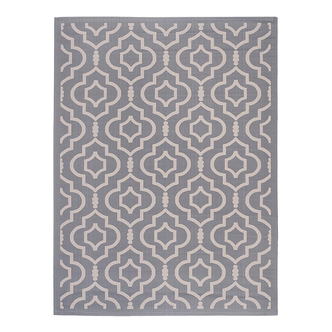 In-/Outdoorteppich Mykonos - Anthrazit/Beige - Maße: 161 x 232 cm, Safavieh