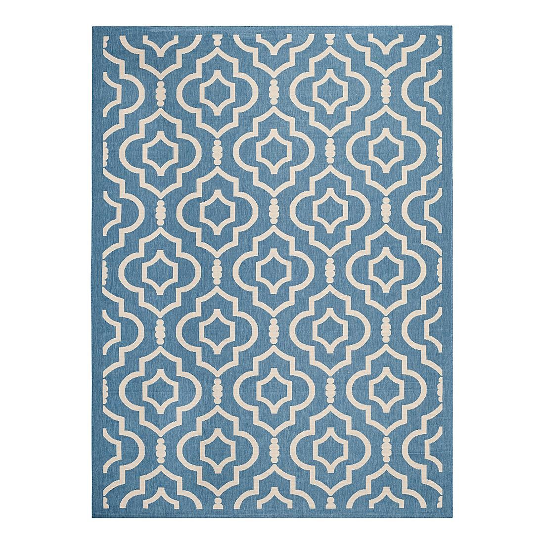 In-/Outdoorteppich Mykonos – Blau/Beige – Maße: 121 x 170 cm, Safavieh günstig kaufen