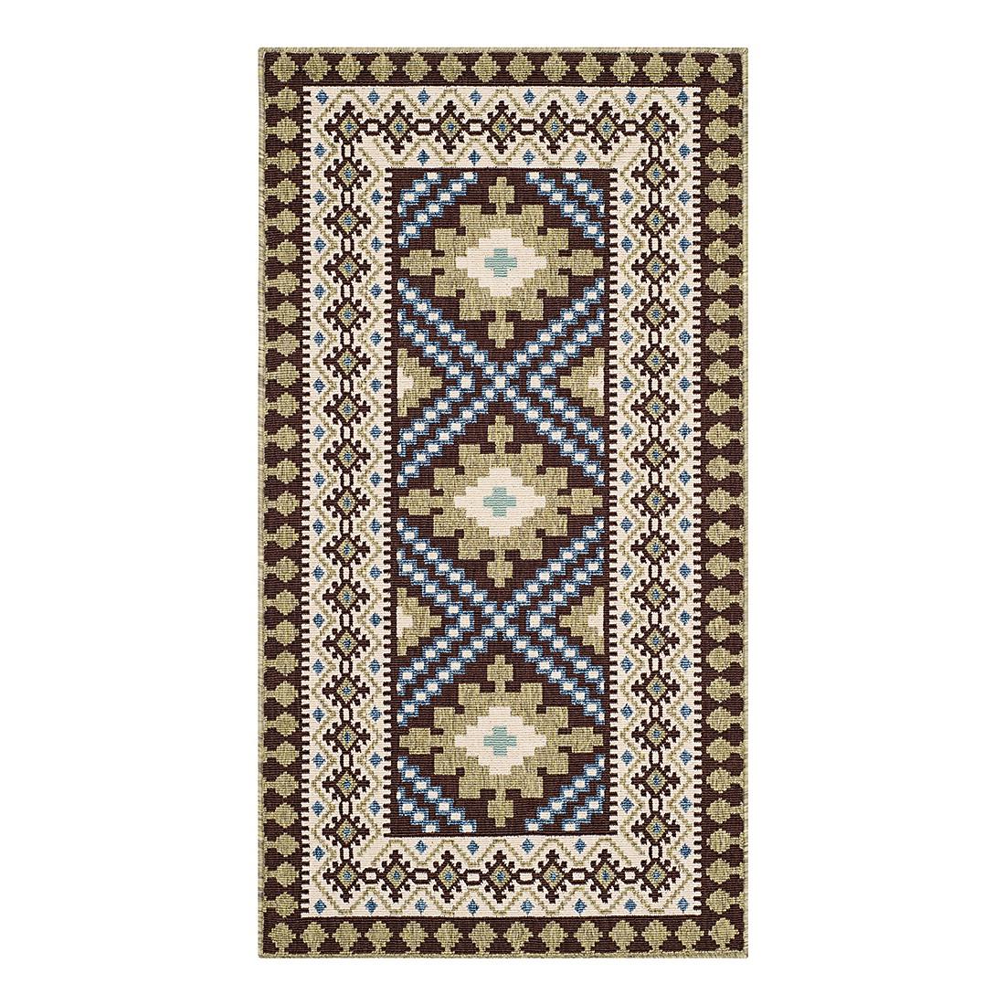 In-/Outdoorteppich Ratia – Schoko/Grün – Maße: 121 x 170 cm, Safavieh online bestellen