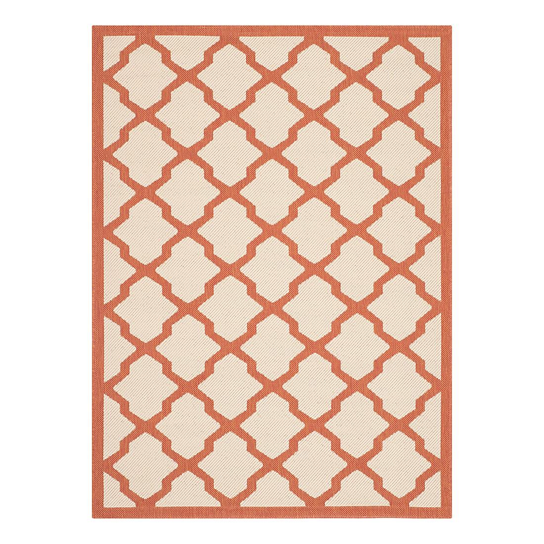 In-/Outdoorteppich Samanna – Beige/Terracotta – Maße: 200 x 289 cm, Safavieh jetzt kaufen
