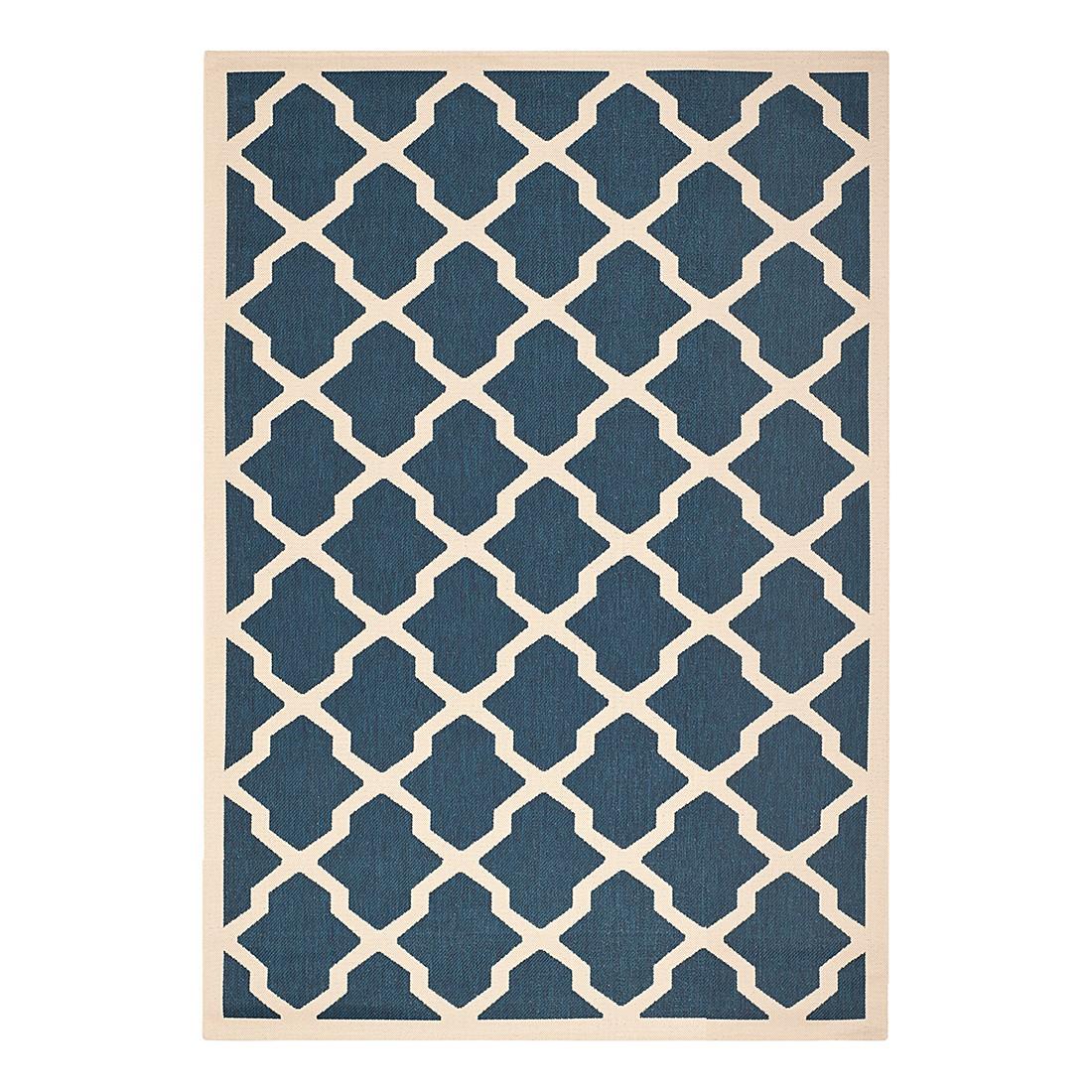 In-/Outdoorteppich Samanna – Marine/Beige – Maße: 121 x 170 cm, Safavieh online kaufen