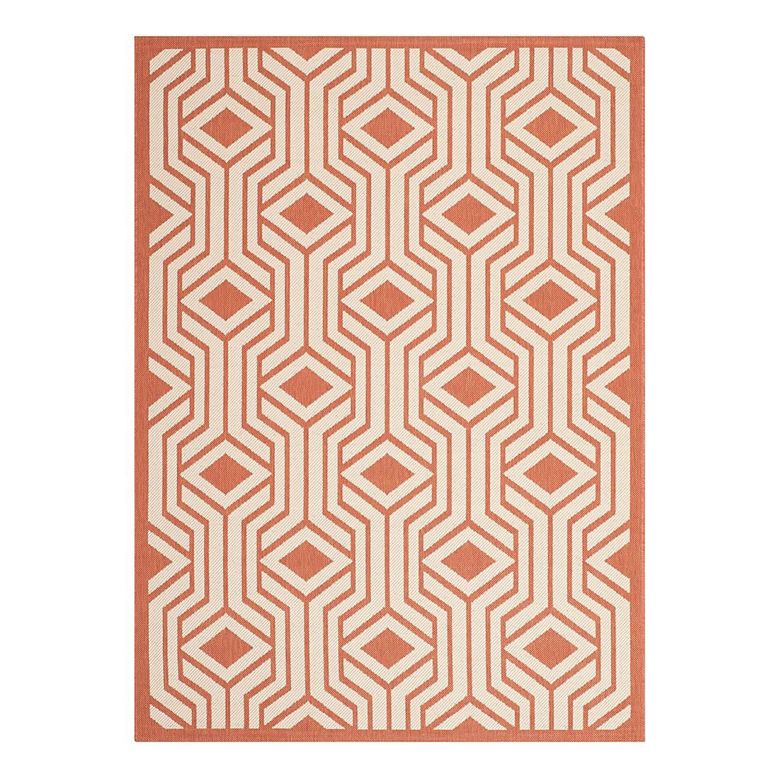In-/Outdoorteppich Samos - Beige/Terracotta - Maße: 160 x 231 cm, Safavieh