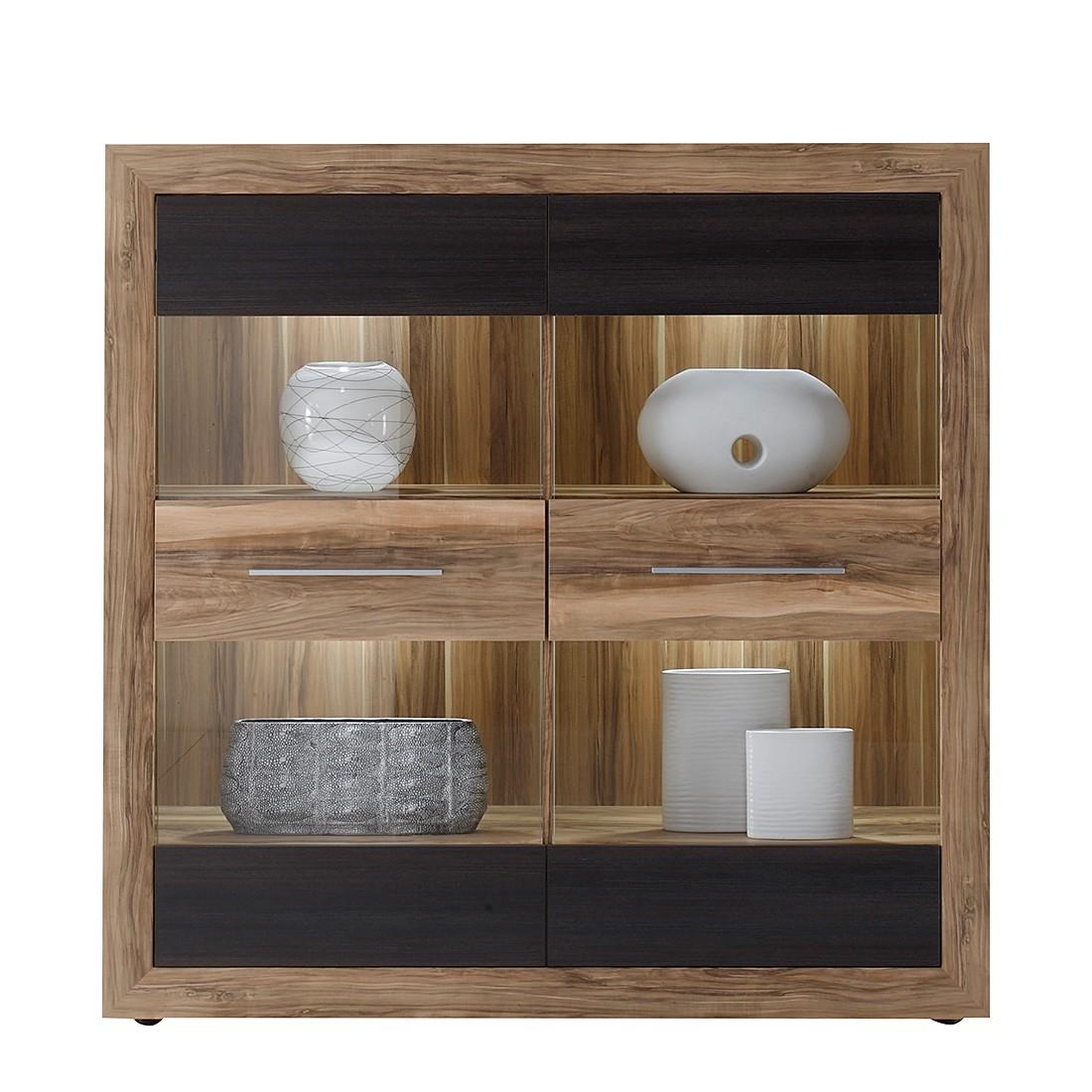 highboard minalu nussbaum dunkelbraun modoform g nstig online kaufen. Black Bedroom Furniture Sets. Home Design Ideas