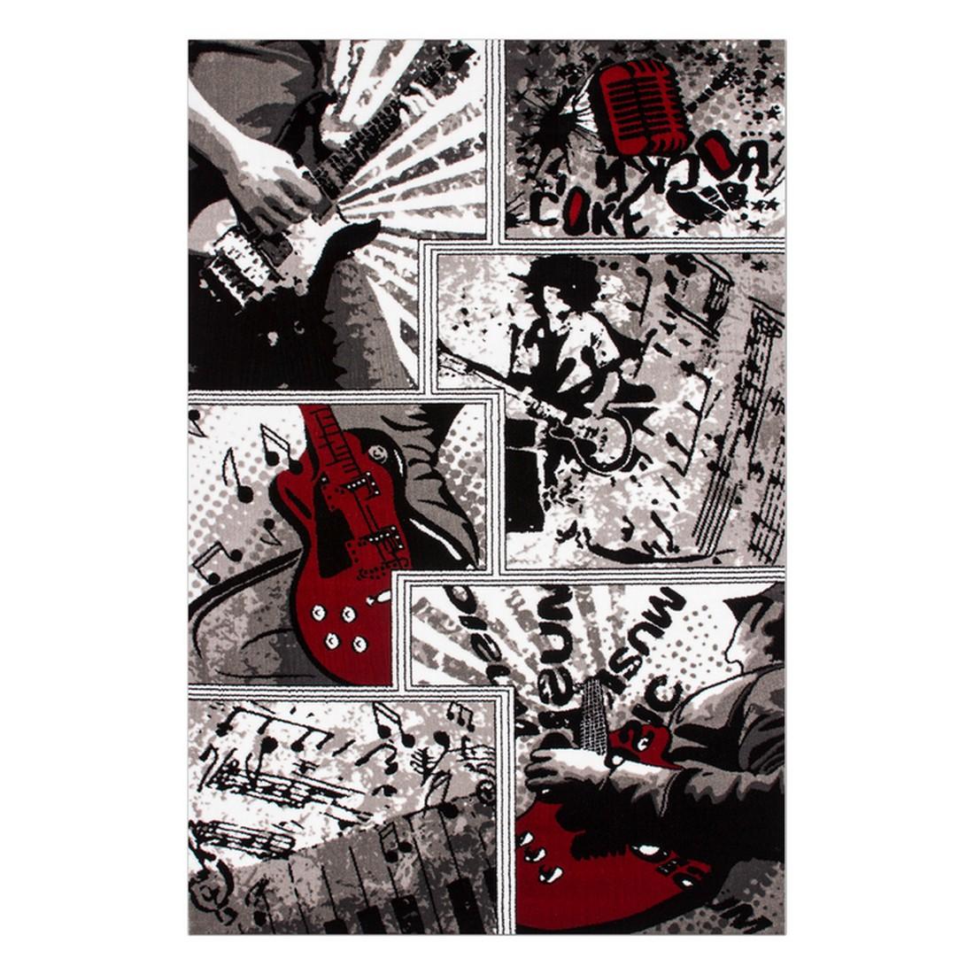 Teppich Rock Music – Silber – 80 x 150 cm, Kayoom online kaufen
