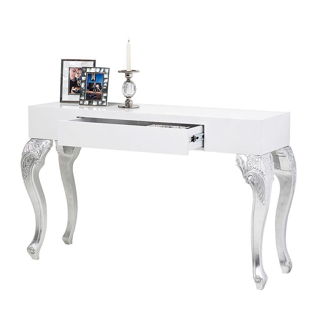 Konsole Janus – Weiß/Silber, Kare Design jetzt bestellen