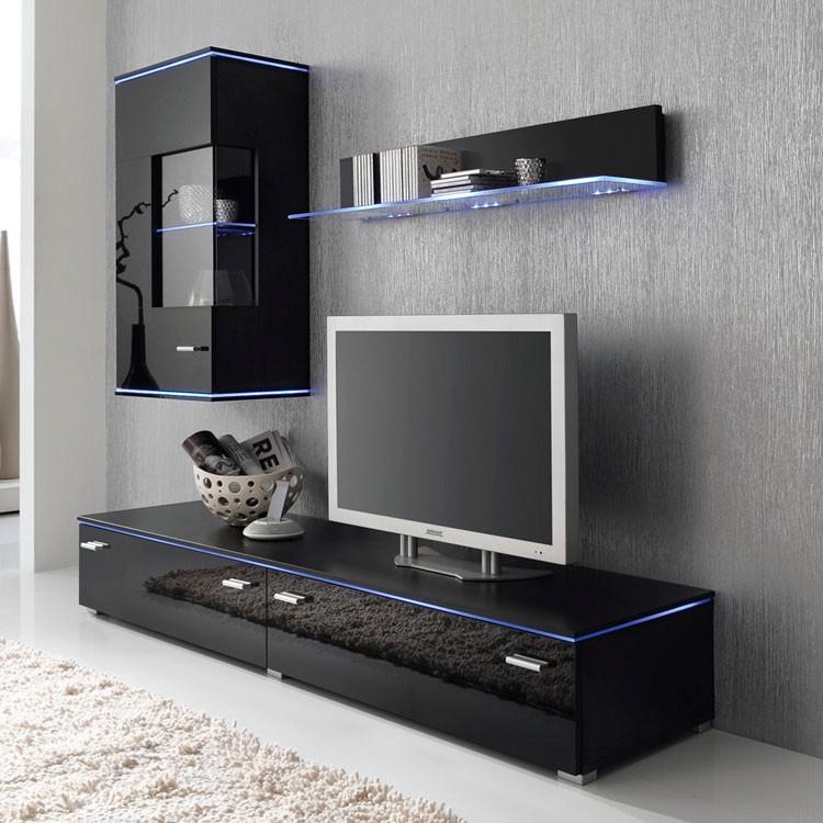 wohnwand schwarz cool wohnwand cinema schwarz hochglanz. Black Bedroom Furniture Sets. Home Design Ideas