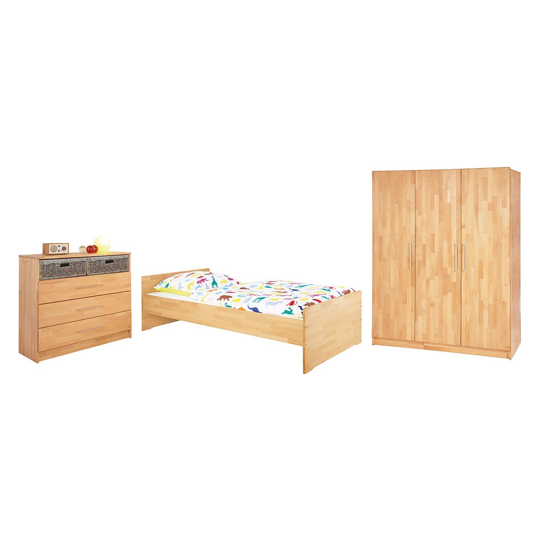 Jugendzimmer Natura Kids (3-teilig) - Buche massiv, Pinolino