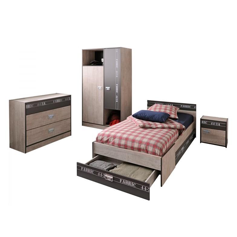 parisot tienerkamer fabric 4delig parisot aanbieding kopen. Black Bedroom Furniture Sets. Home Design Ideas