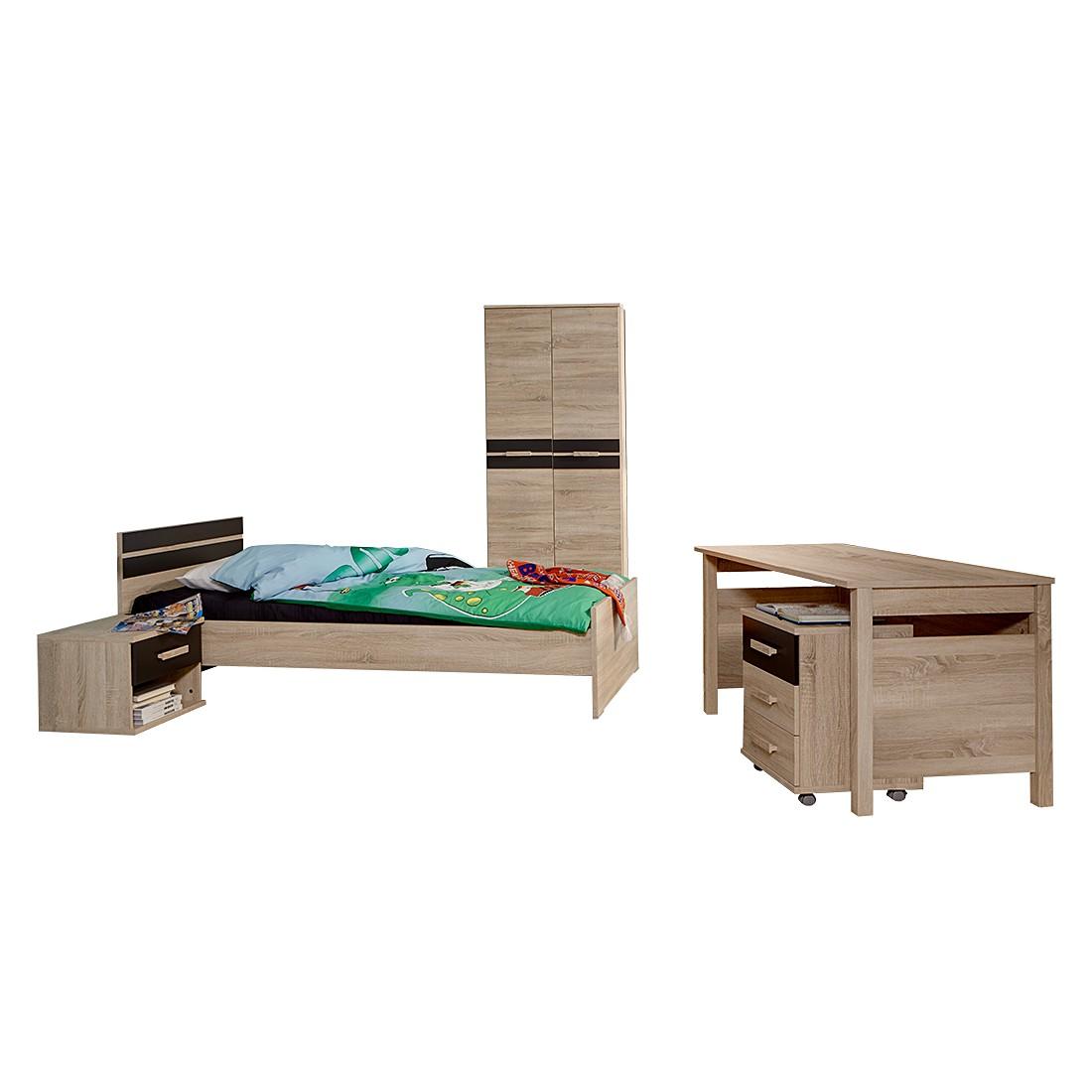 Jugendzimmerkombination Game (4-tlg.) – Eiche Sägerau Dekor/Lava, Wimex günstig kaufen