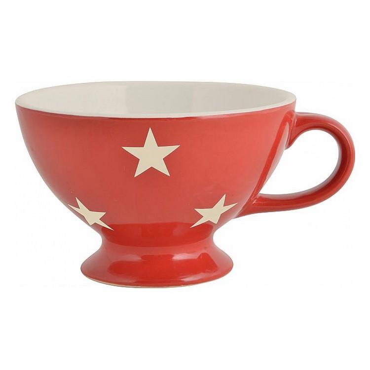 Jumbobecher – Keramik – Sterne rot, Ib Laursen kaufen
