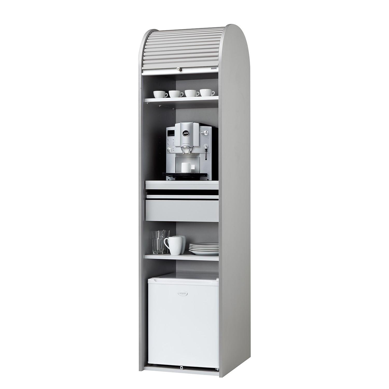 Büroschrank Dancer - Silber - Silber - Mit Kühlschrank, MS Schuon