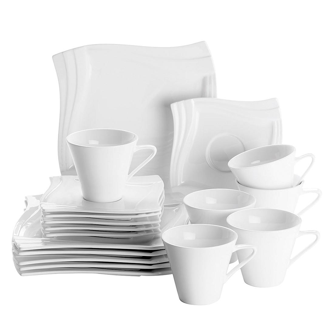 Kaffeeservice (18- teilig) Molina – Aluminiumporzellan/Weiss, Mäser bestellen