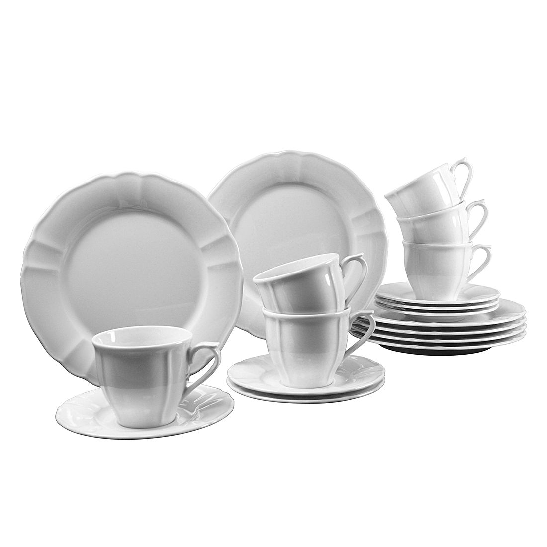 Kaffeeservice Flora (18-teilig) – Weiß, Creatable günstig bestellen