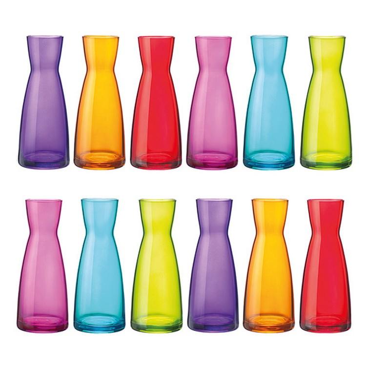 Karaffe Ypsilon Multicolor 12er-Set – Gesprühtes Glas Fuchsia, Blau, Grün, Violett, Orange, Rot, Bormioli Rocco bestellen
