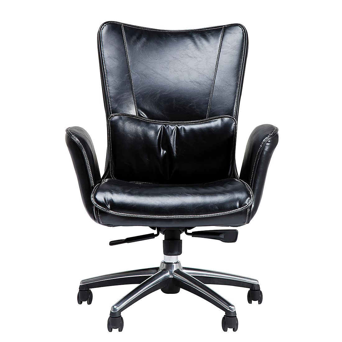 Chefsessel Boss Black – Kunststoff Schwarz, Kare Design günstig bestellen