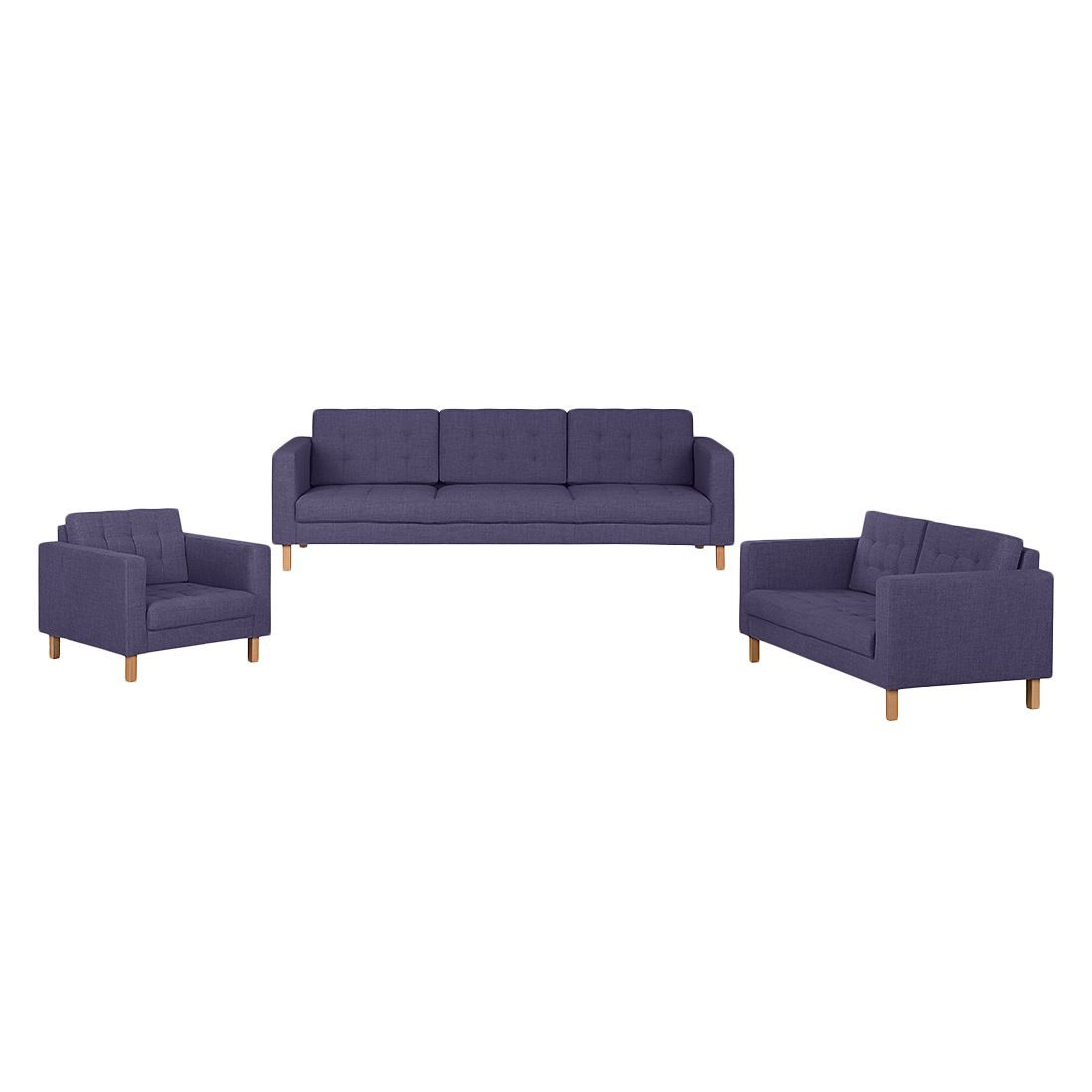 polstergarnitur grums ii 3 2 1 webstoff violett fredriks g nstig bestellen. Black Bedroom Furniture Sets. Home Design Ideas