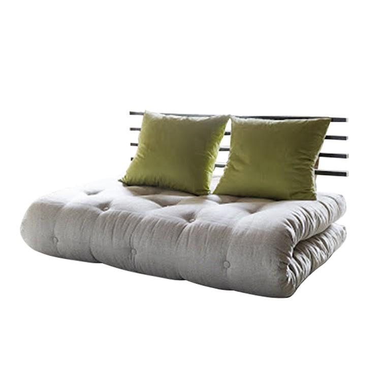 Schlafsofa Shin Sano – Futon Beige/Grün – Matratze 6 Lagen Baumwolle + 4 cm Schaumstoff, Karup jetzt kaufen