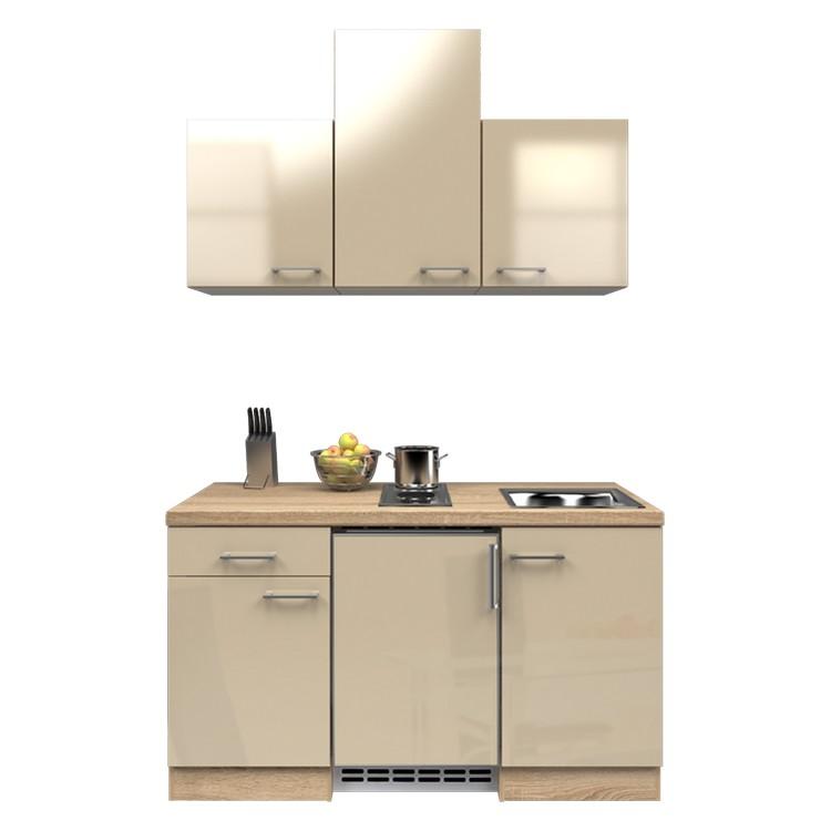 Küchenzeile Barinas – Einbaugeräte – Spüle – 150 cm – Kaschmir – Eiche Sonoma Dekor, Modus Küchen online bestellen