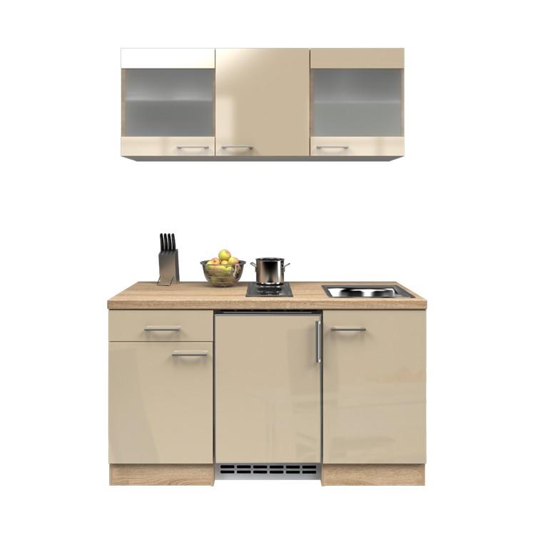 Küchenzeile Ole – Einbaugeräte – Spüle – 150 cm – Kaschmir – Eiche Sonoma Dekor, Modus Küchen kaufen