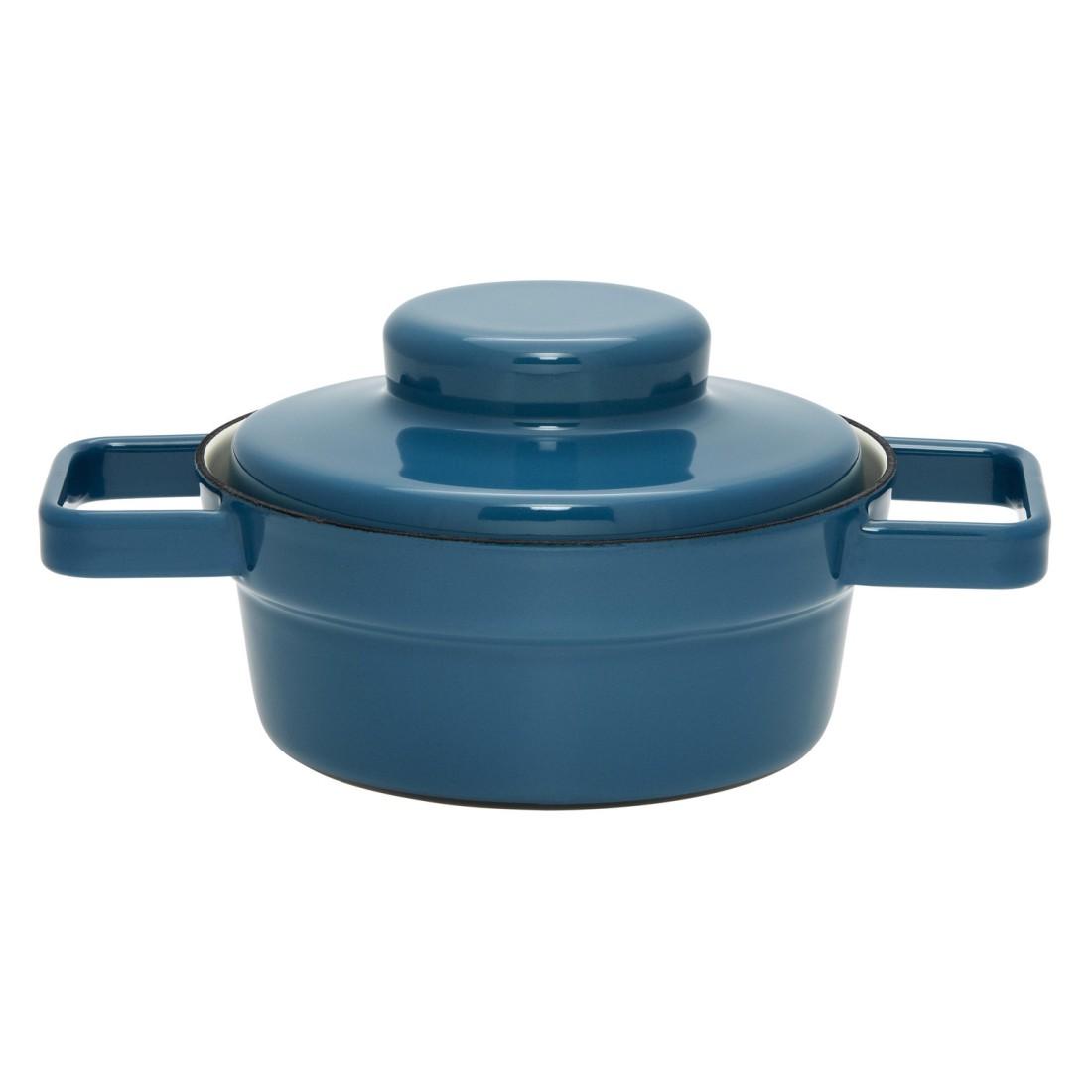 Kasserolle mit Deckel Aromapots – Emaille – Blau – 16cm – 0,5 L, Riess online bestellen