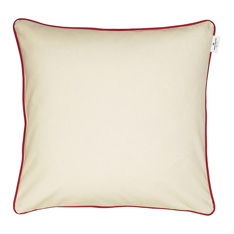 Kederkissenhülle T-Dove – Creme/Keder Rot – 50 x 50 cm, Tom Tailor günstig kaufen
