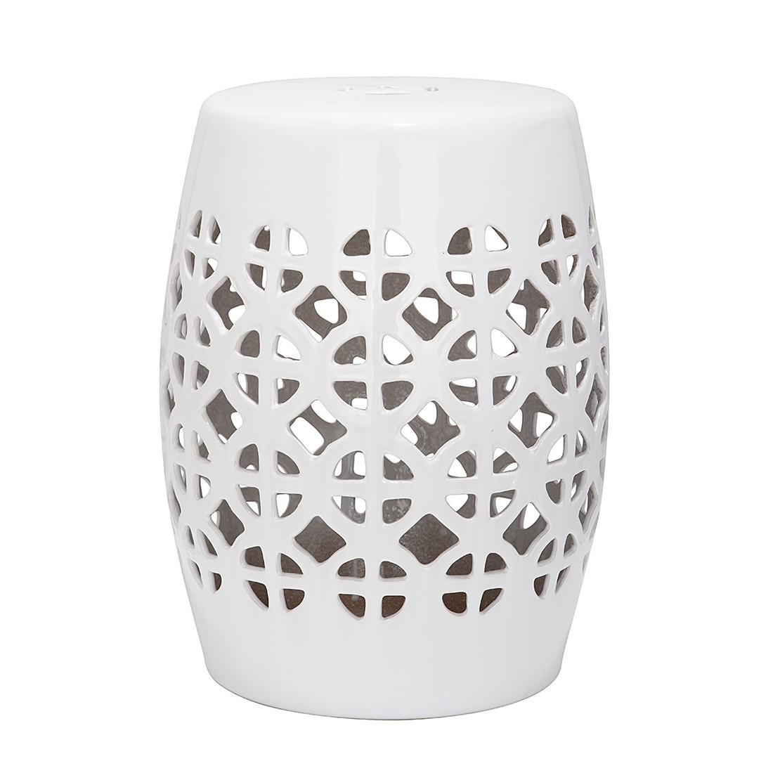 Keramikhocker Circle – Weiß glasiert, Safavieh jetzt bestellen