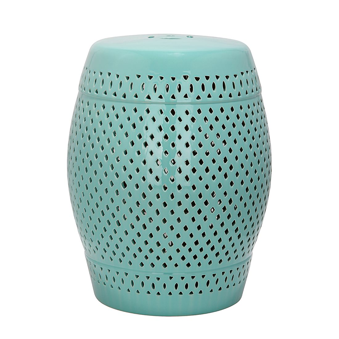 Hocker Diamond - keramiek turquoise, Safavieh