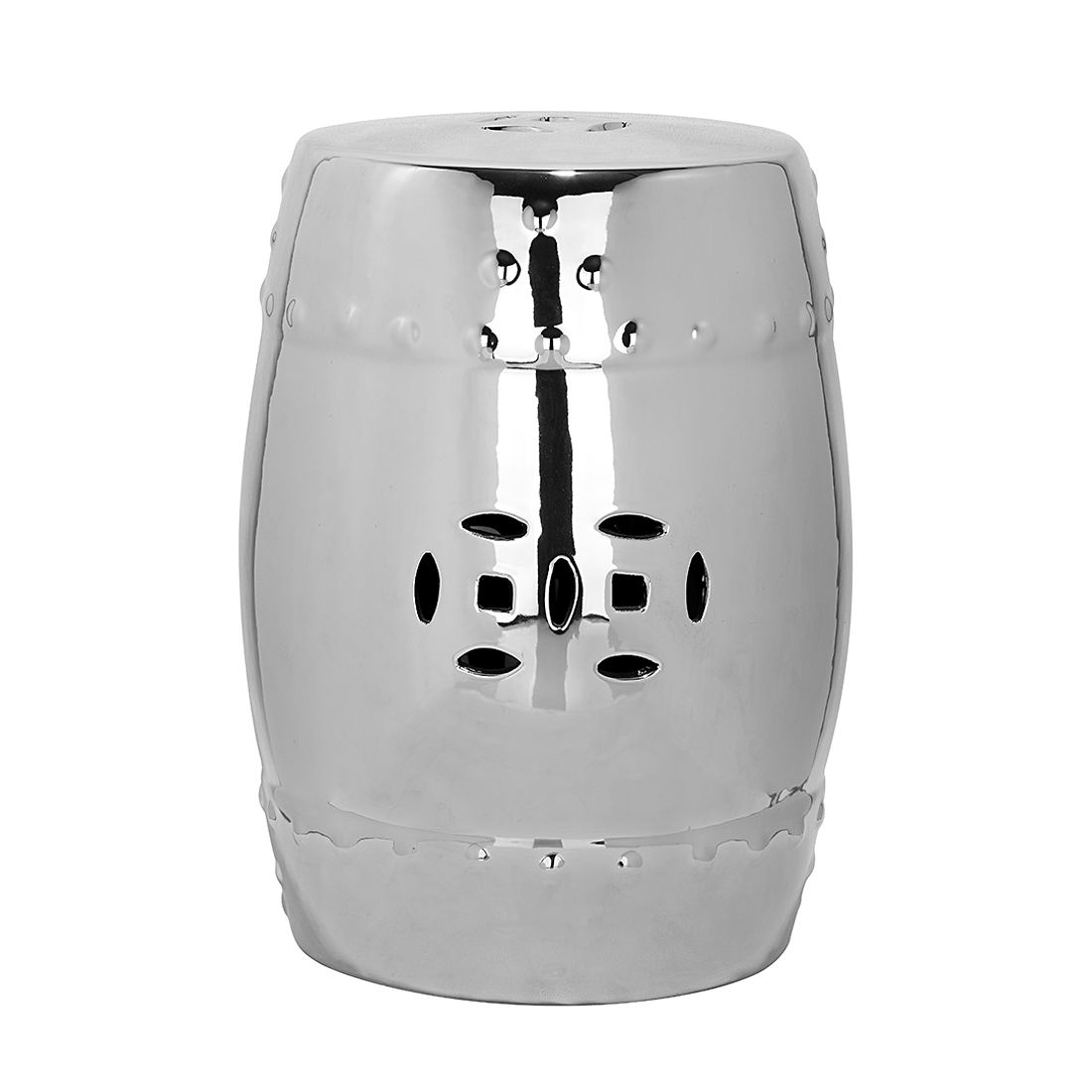 Keramikhocker Ming – Silber, Safavieh kaufen