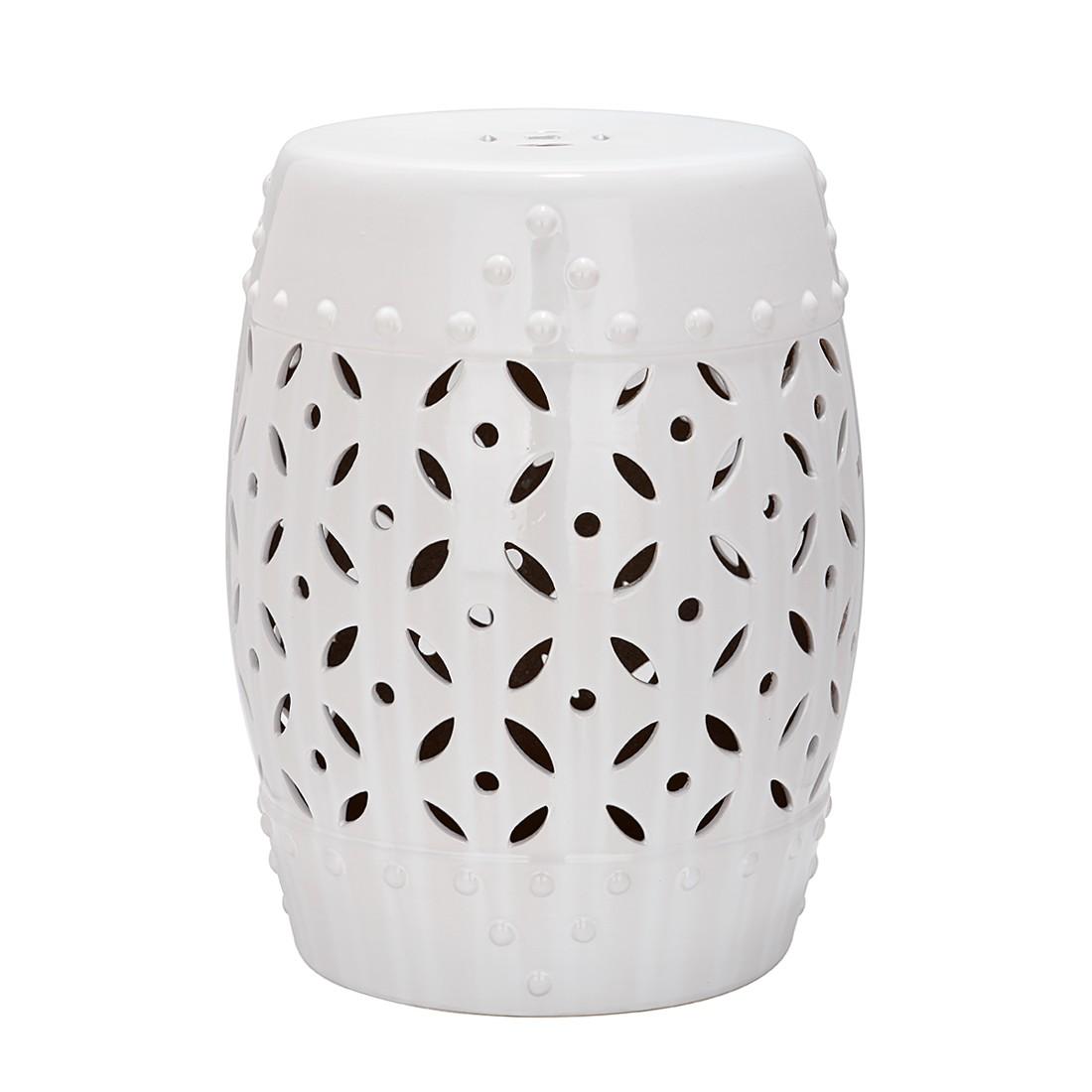 Keramikhocker Münze – Weiß, Safavieh bestellen